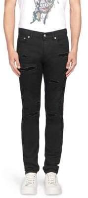 Alexander McQueen Distressed Skinny Jeans