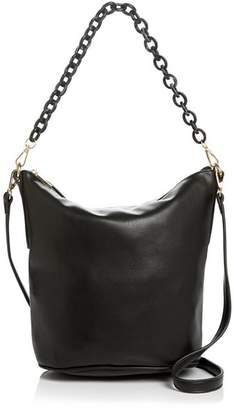 Street Level Leather Hobo With Chain Handle