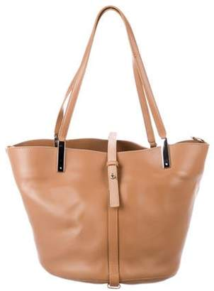 The Row Leather Garden Tote Tan Leather Garden Tote