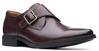Clarks Leather Monk Strap Dress Shoes