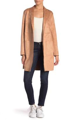 Catherine Malandrino Soft Textured Faux Suede Topper Jacket (Petite)