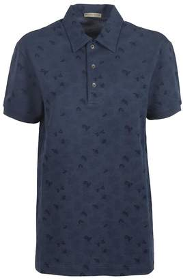 Bottega Veneta Butterfly Pattern Polo Shirt