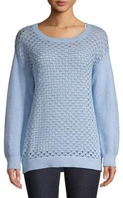 Jones New York Patterned Cotton Sweater