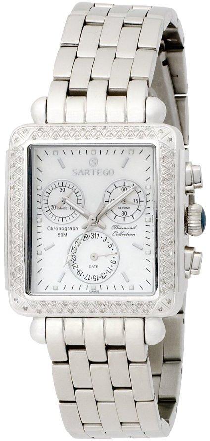 Sartego Women's SDMP395S Diamond Collection Swiss Quartz Movement Watch