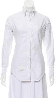 Thom Browne Button-Up Long Sleeve Top