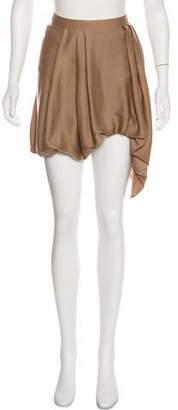 Helmut Lang Pleated Asymmetrical Skirt