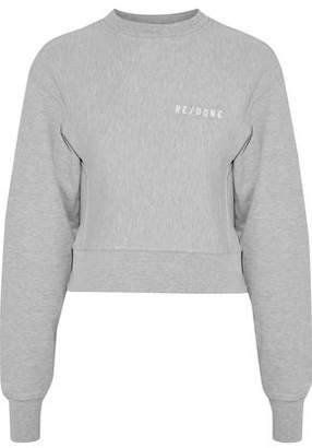 RE/DONE Embroidered French Cotton-Blend Terry Sweatshirt