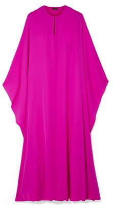 Reem Acra - Draped Silk-georgette Midi Dress - Fuchsia