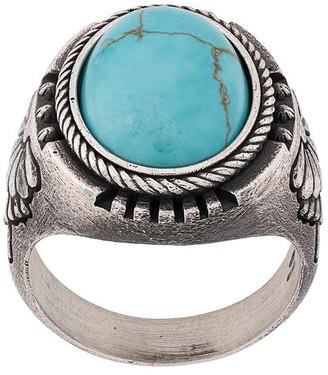 Nove25 Lotus howlite signet ring