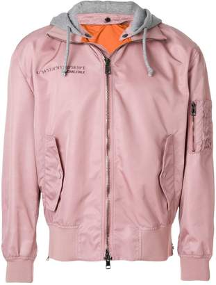 Valentino hooded bomber jacket
