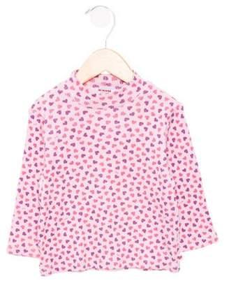Mikihouse Miki House Girls' Printed Mock Neck Top