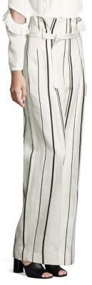 3.1 Phillip Lim 3.1 Phillip Lim Belted Striped Wide-Leg Pants
