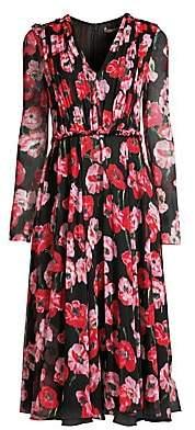 Jason Wu Collection Women's Poppy-Print Crinkle Silk Chiffon Day Dress - Size 0