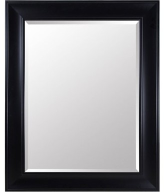 Gallery Solutions Large 39X49 Beveled Wall Mirror with Black Satin Frame