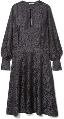 Equipment Magnolia Open-back Silk-blend Jacquard Midi Dress
