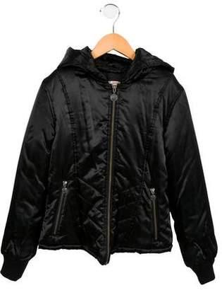 Junior Gaultier Girls' Satin Puffer Jacket