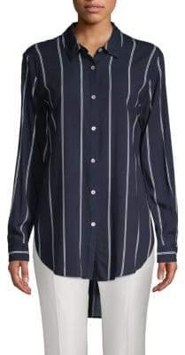 philosophy Striped Hi-Lo Button-Down Shirt