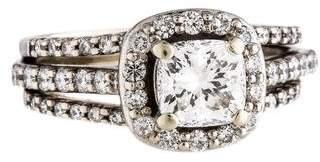 Ring 14K 1.28ct Diamond Wedding Set