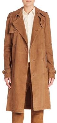 Polo Ralph Lauren Suede Trench Coat $1,298 thestylecure.com