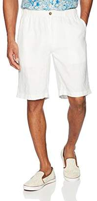 """28 Palms Men's Relaxed-Fit 11"""" Inseam Linen Short with Drawstring"""
