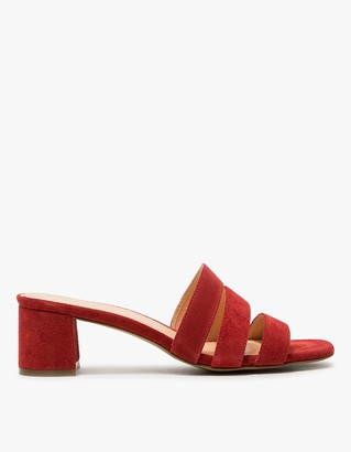 Jane Mule in Cherry Suede $235 thestylecure.com