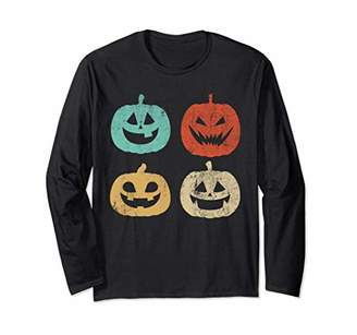 Pumpkin Vintage Halloween Funny Costume Long Sleeve Shirt