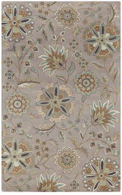 Birch Lane Jasmine Gray Tufted Wool Area Rug