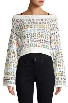 Missoni Cropped Logo Knit Sweater