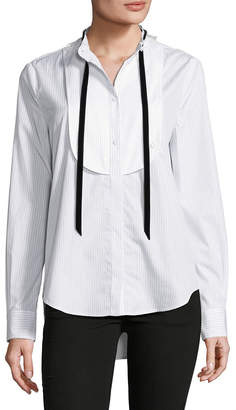 ADAM by Adam Lippes Tie-Accented Button-Front Shirt
