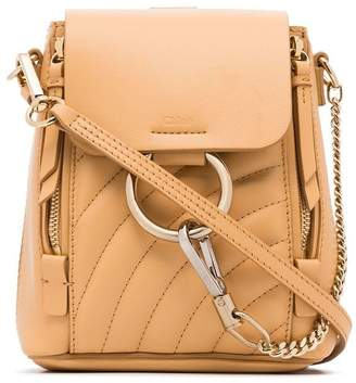 Chloé bleached brown faye quilted leather backpack