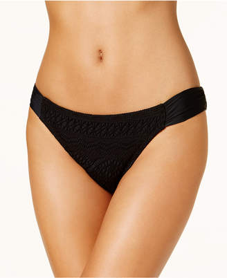 Hula Honey Juniors' Little Wild One Crochet Tab-Side Hipster Bikini Bottoms, Created for Macy's Women's Swimsuit