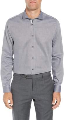 Ted Baker Brocco Modern Fit Geometric Dress Shirt