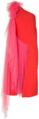 DELPOZO tulle one-shoulder dress