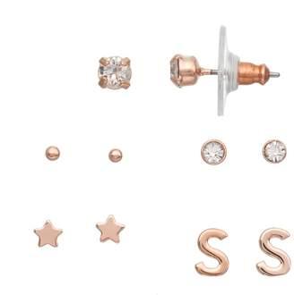 Lauren Conrad Monogram Nickel Free Stud Earring Set