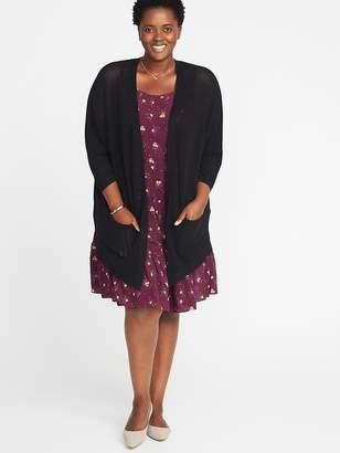 Old Navy Textured-Knit Dolman-Sleeve Plus-Size Open-Front Sweater