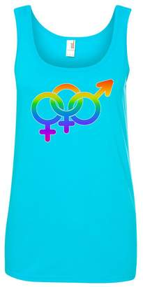 Tenacitee Women's LGBTQ Bisexual Woman Pride Tank Top, 2X-Large