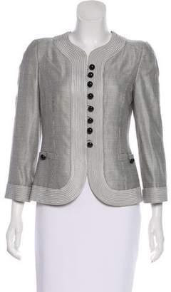 Armani Collezioni Structured Wool-Blend Jacket
