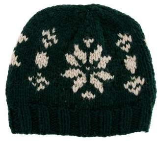 Moncler Chunky Knit Patterned Beanie