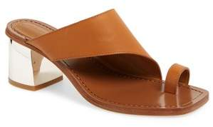 Sigerson Morrison Block Heel Toe Loop Sandal