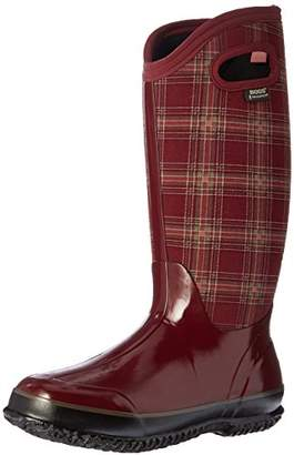 Bogs Women's Classic Winter Plaid Snow Boot