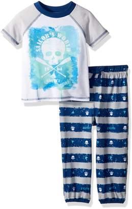 Nautica Boys' Skull 2 Piece Toddler Pajama Set