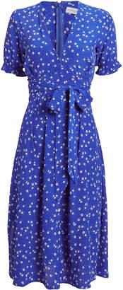 Faithfull The Brand Farah Betina Print Cobalt Dress