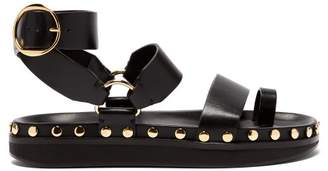 Isabel Marant Nirvy Stud Embellished Leather Sandals - Womens - Black