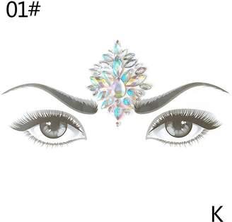 Gracefulvara 2pcs Crystal Face Jewelry Festival Party Body Glitter Tattoo Eyes Decoration Stickers