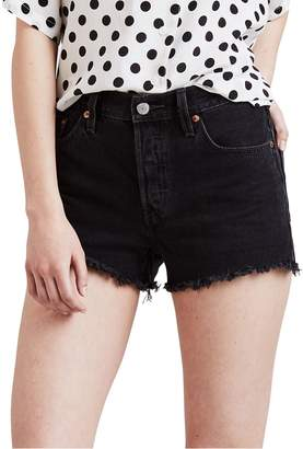 Levi's 501 Mid-Rise Frayed Denim Shorts