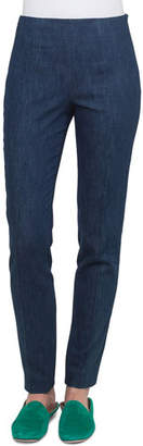 Akris Melissa Side-Zip Slim-Leg Stretch-Denim Pants