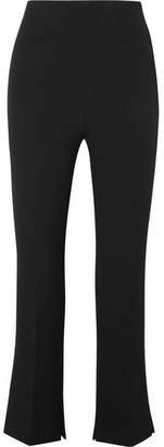 Roland Mouret Goswell Cropped Crepe Slim-leg Pants - Black