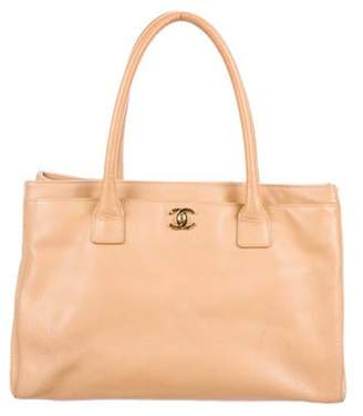 Chanel Leather Cerf Tote Beige Leather Cerf Tote