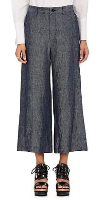 TOMORROWLAND Women's Linen Wide-Leg Crop Pants