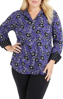 Foxcroft Rhonda Holiday Floral Shirt